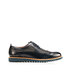 Shoes, navy blue, 92-M-501-7-41, Photo 1
