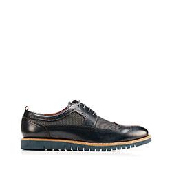 Shoes, navy blue, 92-M-501-7-43, Photo 1