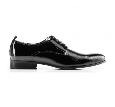 Buty do garnituru z lakierowanej skóry, czarny, 92-M-509-1-40, Zdjęcie 1