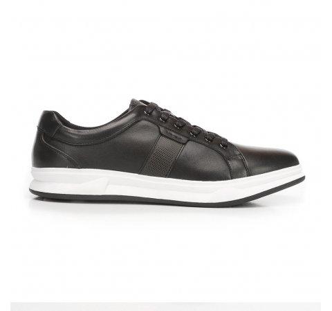 Męskie sneakersy skórzane na gumowej podeszwie, czarny, 92-M-510-0-42, Zdjęcie 1