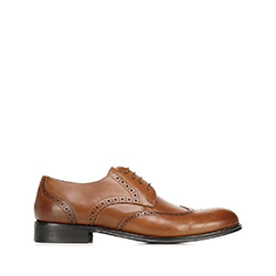 Classic leather brogues, brown, 92-M-551-5-44, Photo 1