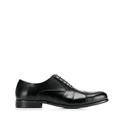 Męskie oksfordy skórzane klasyczne, czarny, 92-M-552-1-41, Zdjęcie 1