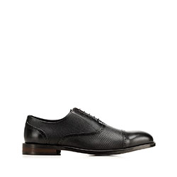 Men's dress shoes in embossed leather, black, 92-M-553-1-41, Photo 1