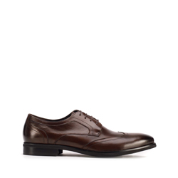 Leather Derby shoes, brown, 93-M-512-5-43, Photo 1