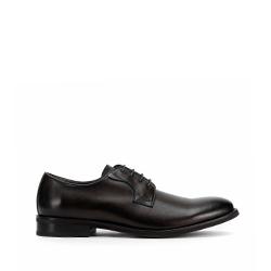 Męskie buty do garnituru skórzane gładkie, czarny, 93-M-524-1-40, Zdjęcie 1