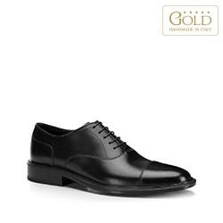 Męskie oksfordy skórzane, czarny, BM-B-588-1-45_5, Zdjęcie 1
