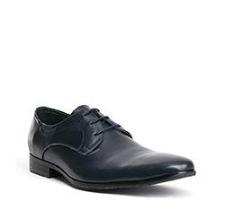Men's shoes, navy blue, 84-M-901-7-44, Photo 1