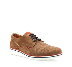 Men's shoes, light brown, 84-M-201-9-40, Photo 1