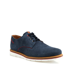 Men's shoes, navy blue, 84-M-203-7-42, Photo 1