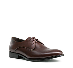 Men's shoes, dark brown, 84-M-806-4-40, Photo 1