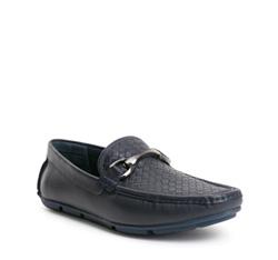 Men's shoes, navy blue, 84-M-921-7-41, Photo 1