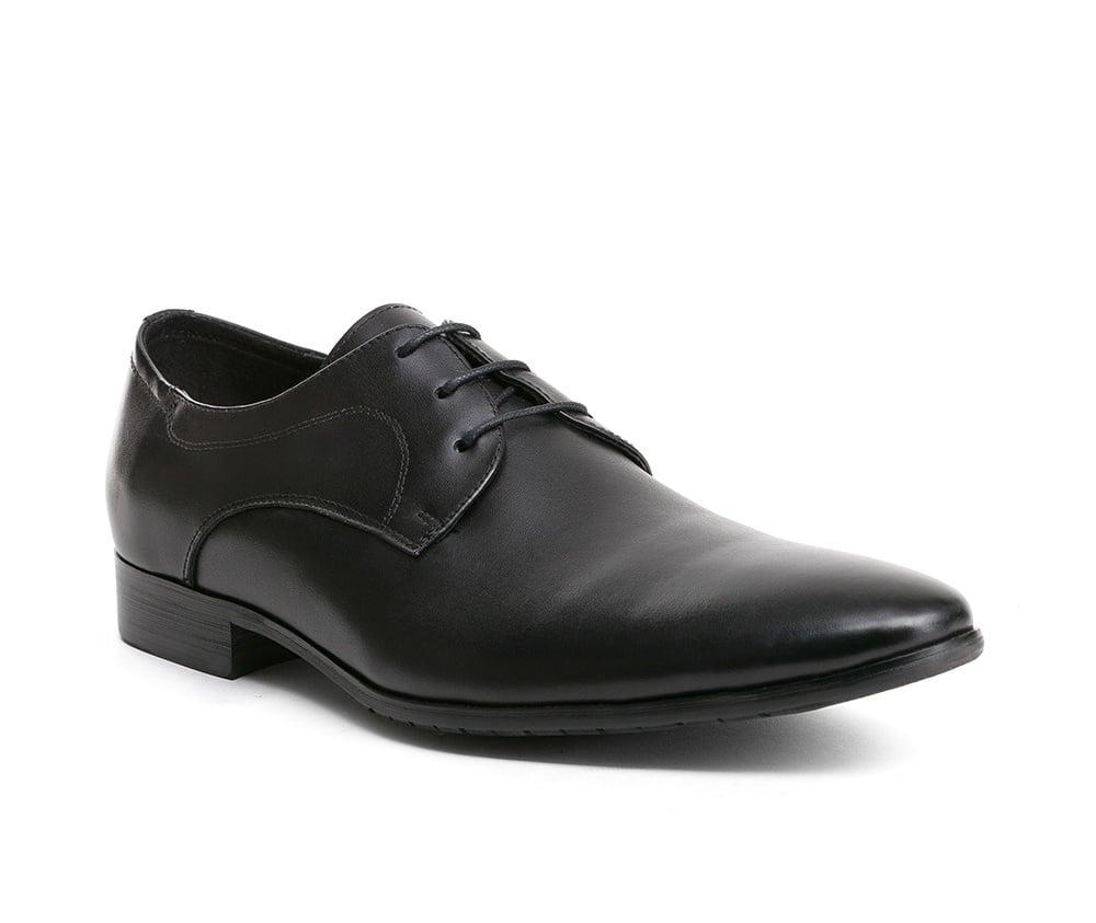 Обувь мужскаяТуфли мужские Дерби, выполнены по технологии Hand Made из натуральной итальянской кожи наивысшего качества.   Подошва сделана из качественного синтетического материала. Фасон, который придется по вкусу мужчинам, ценящим универсальные и в то же время элегантные решения. натуральная кожа  текстиль/натуральная кожа синтетический материал<br><br>секс: мужчина<br>Цвет: черный<br>Размер EU: 40<br>материал:: Натуральная кожа<br>примерная высота каблука (см):: 2,5