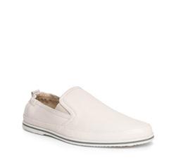 Buty męskie, biały, 84-M-924-0-44, Zdjęcie 1