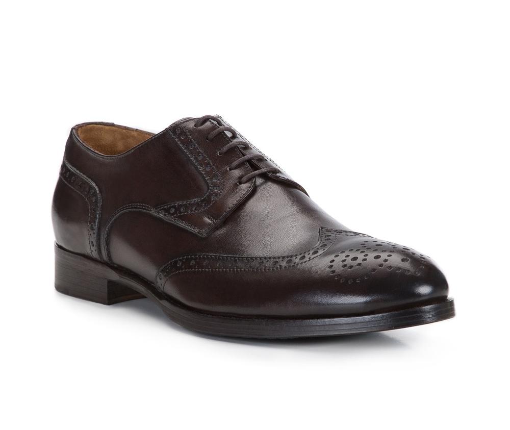 Обувь мужскаяТуфли мужские. Изготовленные по технологии \Hand Made\и выполнены полностью из натуральной итальянской кожи наивысшего качества. Подошва  сделана из качественного синтетического материала. Идеальная модель для современного мужчины.<br><br>секс: мужчина<br>Цвет: коричневый<br>Размер EU: 44<br>материал:: Натуральная кожа<br>примерная высота каблука (см):: 3