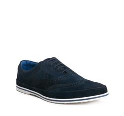 Men's shoes, navy blue, 84-M-926-7-44, Photo 1