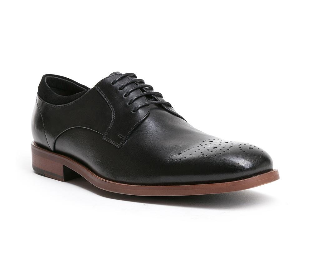 Обувь мужскаяТуфли мужские. Изготовленные по технологии Hand Madeи выполнены полностью из натуральной итальянской кожи наивысшего качества. Подошва  сделана из качественного синтетического материала. Идеальная модель для современного мужчины.<br><br>секс: мужчина<br>Цвет: черный<br>Размер EU: 44<br>материал:: Натуральная кожа<br>примерная высота каблука (см):: 2,5
