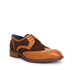 Men's shoes, light brown, 84-M-910-5-44, Photo 1