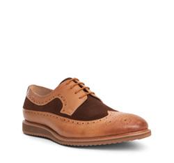 Men's shoes, light brown, 84-M-911-5-40, Photo 1