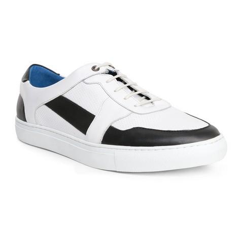 Męskie sneakersy ze skóry, biały, 84-M-932-0-40, Zdjęcie 1