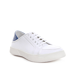 Buty męskie, biało - niebieski, 84-M-933-7-44, Zdjęcie 1