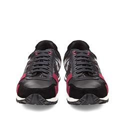 Męskie sneakersy z motywem moro, czarno - bordowy, 85-M-927-X-39, Zdjęcie 1