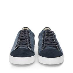 Męskie sneakersy z tkaniny i nubuku, granatowy, 86-M-050-7-40, Zdjęcie 1