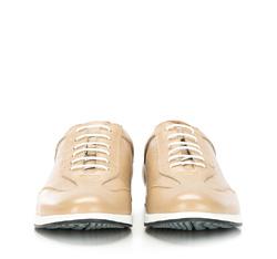Męskie sneakersy z perforacjami, beżowo - srebrny, 86-M-913-9-45, Zdjęcie 1