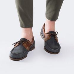 Buty męskie, granatowo - brązowy, 88-M-351-7-40, Zdjęcie 1