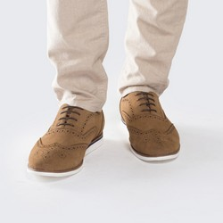 Buty męskie, beżowo - srebrny, 88-M-912-9-40, Zdjęcie 1