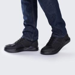 Męskie sneakersy ze skarpetą, czarny, 88-M-937-1-41, Zdjęcie 1