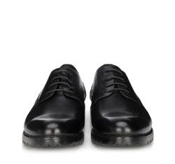 Męskie derby skórzane, czarny, 89-M-500-1-40, Zdjęcie 1