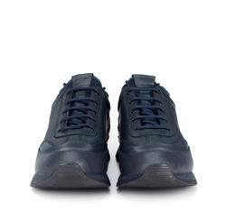 Męskie sneakersy ze skóry, granatowy, 89-M-908-7-43, Zdjęcie 1