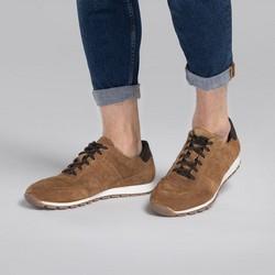 Męskie sneakersy zamszowe, brązowy, 90-M-301-5-40, Zdjęcie 1