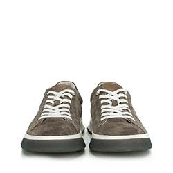 Męskie sneakersy na grubej podeszwie, taupe, 90-M-500-8-44, Zdjęcie 1