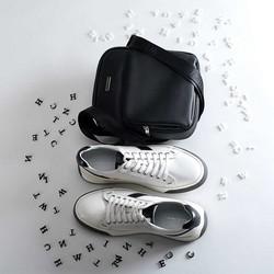 Męskie sneakersy na grubej podeszwie, biały, 90-M-501-0-44, Zdjęcie 1