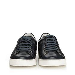 Męskie sneakersy z perforacjami, granatowy, 90-M-502-7-43, Zdjęcie 1