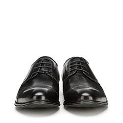 Męskie derby skórzane, czarny, 90-M-513-1-39, Zdjęcie 1