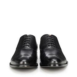Męskie oksfordy skórzane, czarny, 90-M-515-1-40, Zdjęcie 1