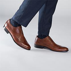 Buty męskie, brązowy, 90-M-601-4-45, Zdjęcie 1