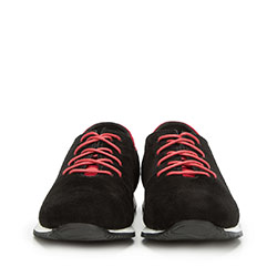 Męskie sneakersy z nubuku, czarny, 90-M-900-1-39, Zdjęcie 1
