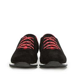 Męskie sneakersy z nubuku, czarny, 90-M-900-1-40, Zdjęcie 1
