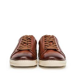 Męskie sneakersy ze skóry, brązowy, 90-M-901-5-41, Zdjęcie 1