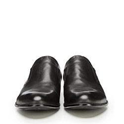 Męskie półbuty skórzane wsuwane, czarny, 90-M-907-1-39, Zdjęcie 1