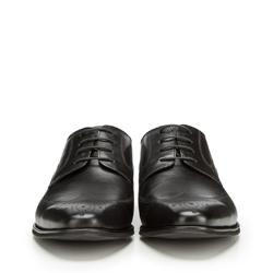 Męskie półbrogsy skórzane, czarny, 90-M-913-1-40, Zdjęcie 1