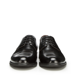 Męskie derby skórzane, czarny, 90-M-914-1-42, Zdjęcie 1