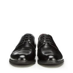 Męskie derby skórzane, czarny, 90-M-914-1-44, Zdjęcie 1