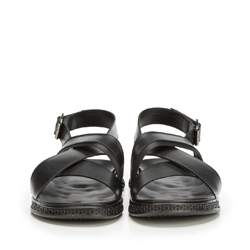 Męskie sandały ze skóry typu rzymianki, czarny, 90-M-917-1-45, Zdjęcie 1