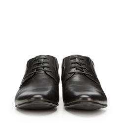 Męskie derby skórzane z gumką, czarny, 90-M-920-1-44, Zdjęcie 1