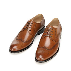 Classic leather brogues, brown, 92-M-551-5-39, Photo 1