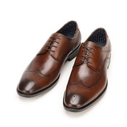 Men's leather brogues, brown, 92-M-906-4-45, Photo 1